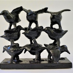 Fuglestak III (9 fugle)  H31xBR13xL34,5  Pris 9.000 kr